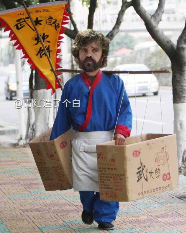 """Герои """"Игры престолов"""" в роли китайских уличных торговцев"""