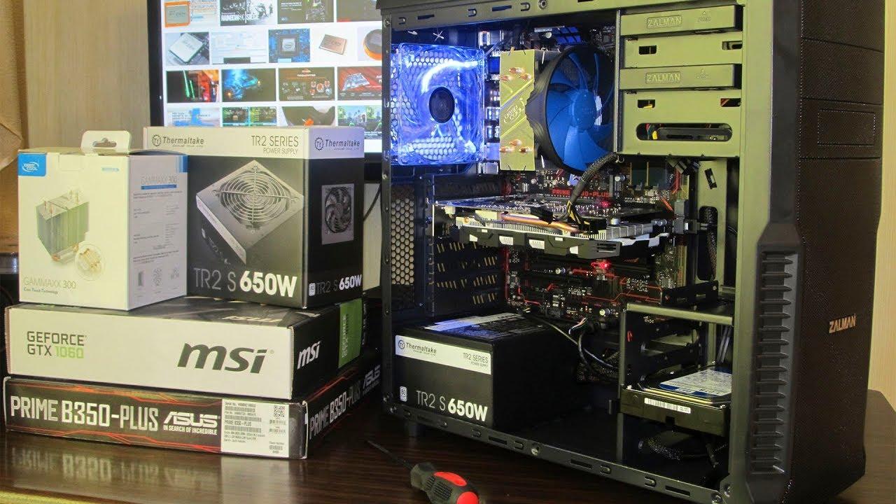 Собираем комп на AMD Ryzen 5 1600 и GTX 1060 + тест плавности