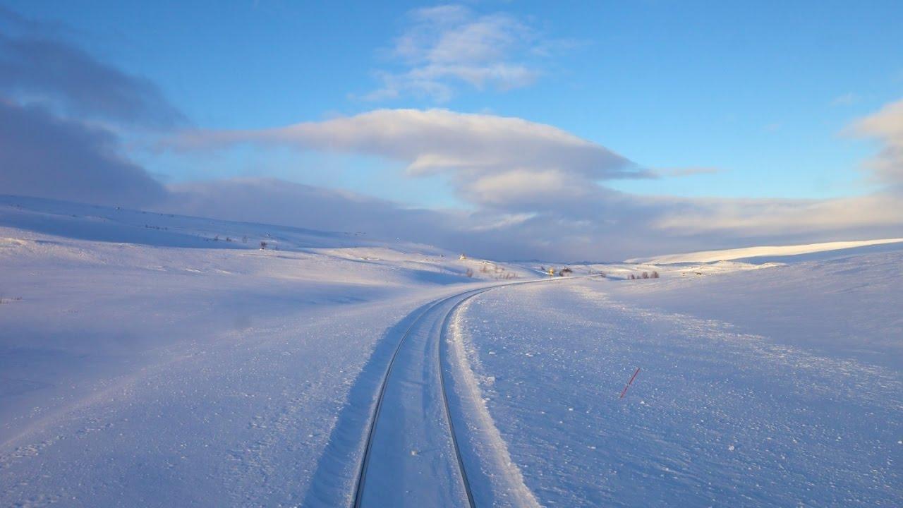 Любителям живописной дороги на поезде. Зима. Норвегия. 9 часов 50 минут