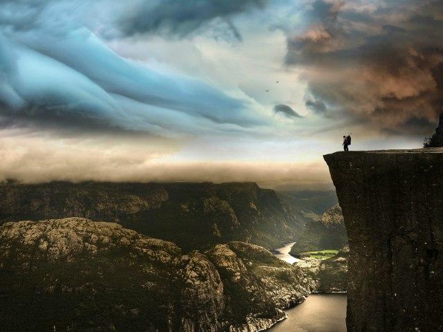 Утёс Прекестулен в Норвегии