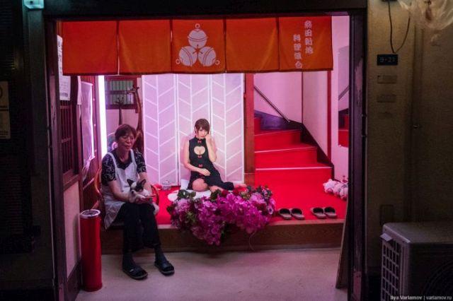 «Квартал красных фонарей» в японской Осаке