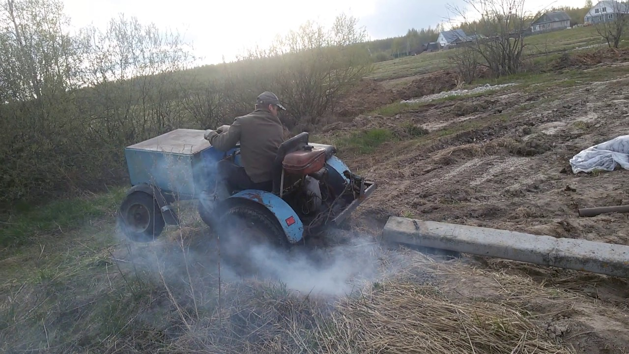 Мини трактор самоделка, прикол