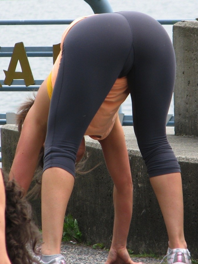 Solo girl McKenzie Lee exposing large MILF tits in yoga pants  791761