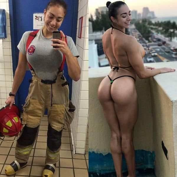 Девушки в одежде на работе и дома (53 фото)
