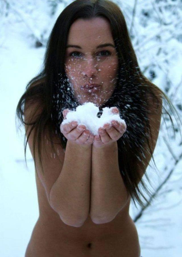 Девушки Зимой Подборка (61 фото)