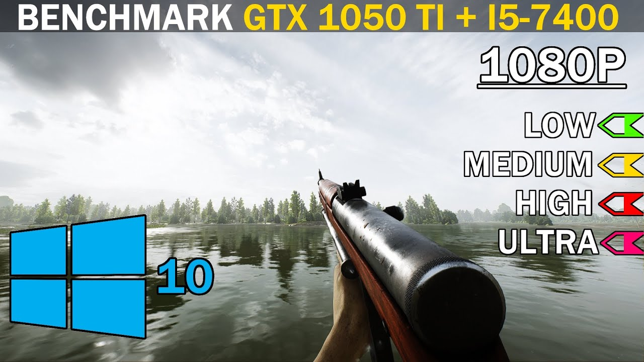 Тест в Игре: Battlefield V | GTX 1050 Ti + i5-7400 | Low vs. Medium vs. High vs. Ultra | 1080p