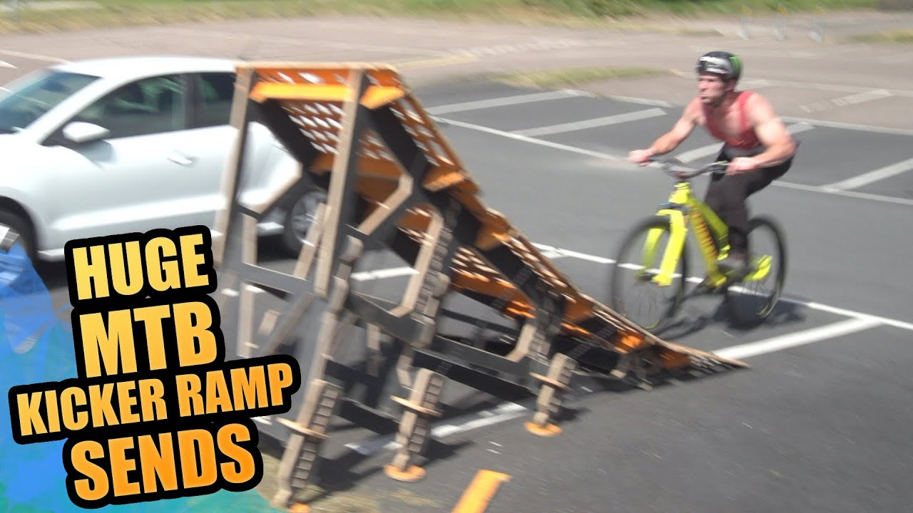 ОПАСНЫЕ ТРЮКИ - HUGE MTB KICKER RAMP SENDS - URBAN MTB FREERIDE