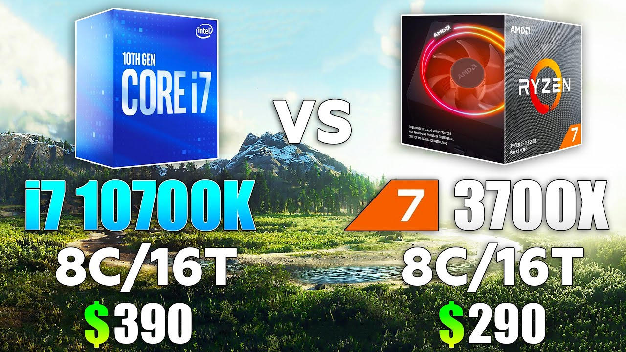 Core i7 10700K vs Ryzen 7 3700X Test in 10 Games