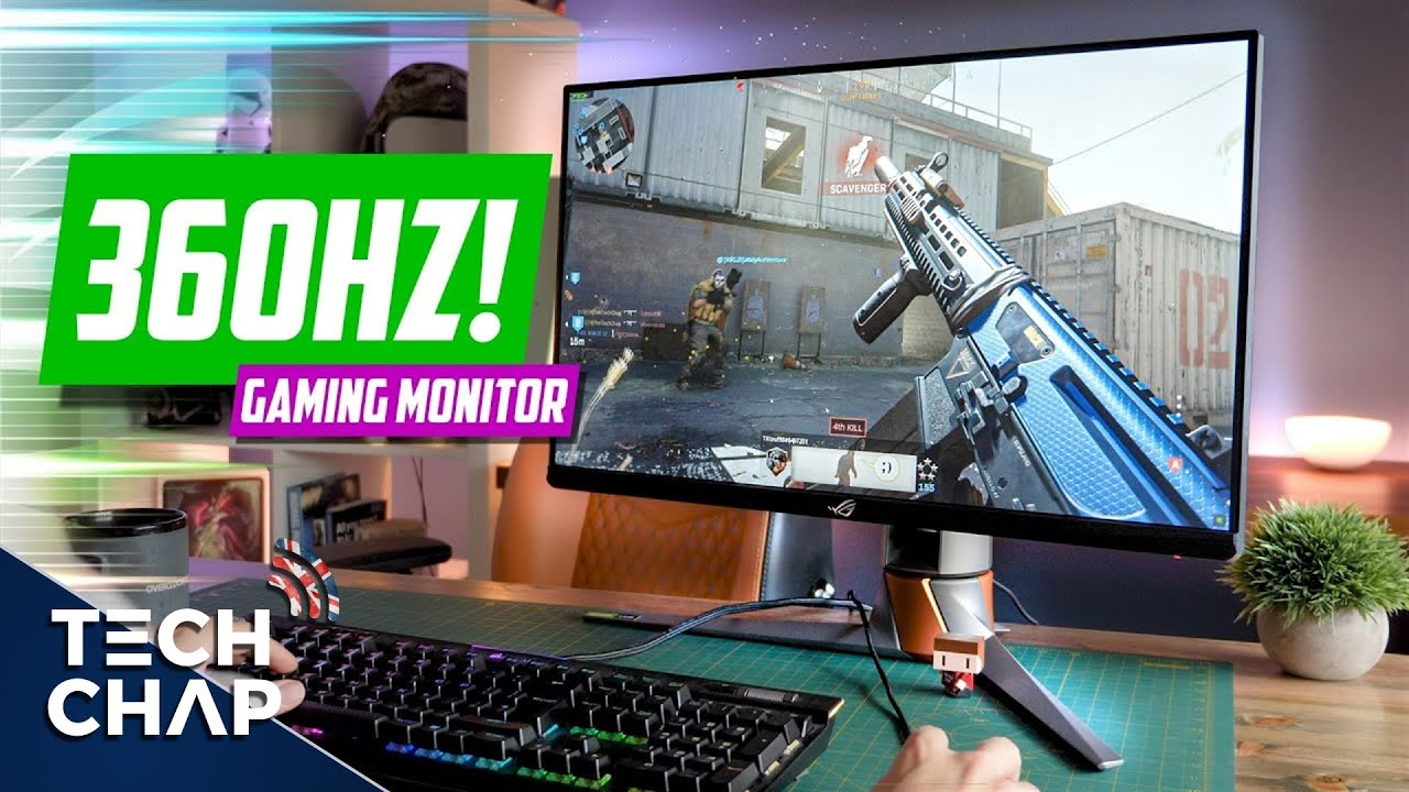 Монитор 360 Герц / The ULTIMATE 360hz Gaming Monitor! (ASUS ROG PG259QN Review) | The Tech Chap