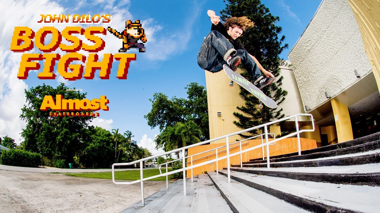 "Трюки на Скейте: Almost Presents John Dilo's ""Boss Fight"" Part"