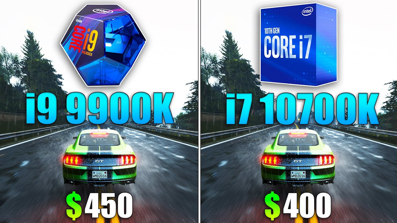 ФПС В ИГРАХ - i9 9900K vs i7 10700K Test in 10 Games