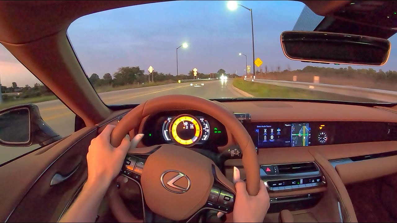 2021 Lexus LC 500 Convertible - POV Night Drive (Binaural Audio)