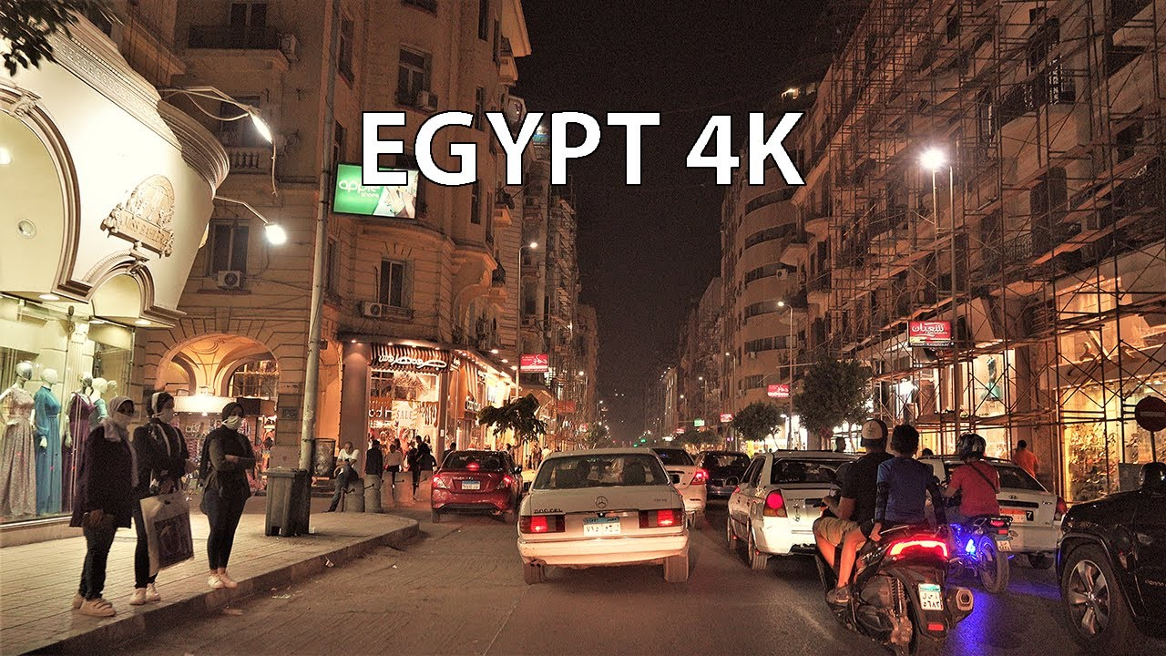 Ночные улицы Египта. Cairo 4K - Night Drive - Driving Downtown